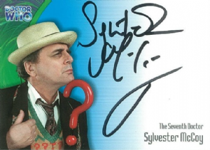 Doctor Who  SYLVESTER McCOY as The Seventh Doctor  AUTOGRAPH CARD AU02, Strictly Ink  -  10636